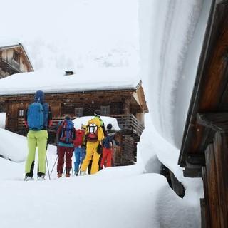 Die malerischen Hütten der Brandalm beim Anstieg zum Hohen Haus. Foto: Stefan Herbke
