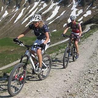 Mountainbiken als Bergsportart.