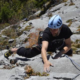 Felsklettern am Alpenrand. Copyright: Thomas Bucher