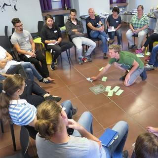 Zusammenarbeit im Forum bei der JuRef-Tagung 2018, Foto: JDAV/ Hanna Glaeser