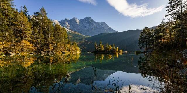Zugspitze mit Eibsee, Foto: Wolfgang Ehn