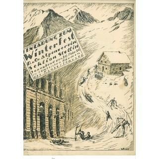 Einladung zum Winterfest der Sektion Stettin, 1926. Archiv des DAV, München