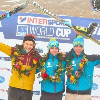 Die drei Sieger beim Junioren Individual © Seebacher / DAV