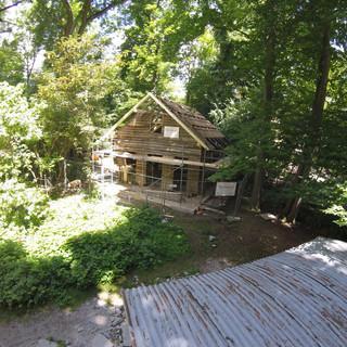 Bilder zum Wiederaufbau der Höllentalangerhütte