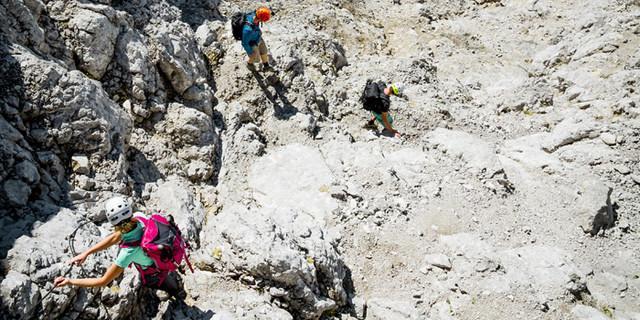 Am Beginn des langen Abstiegs, Foto: Hans Herbig