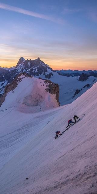 Das Mont Blanc Massiv bietet perfektes Gelände für jede alpine Disziplin. Foto: DAV / Silvan Metz