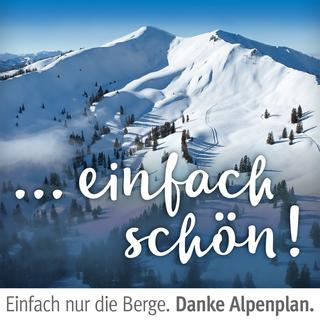So sah ein Motiv der DAV-Kampagne zum Riedberger Horn und zum Alpenplan aus.