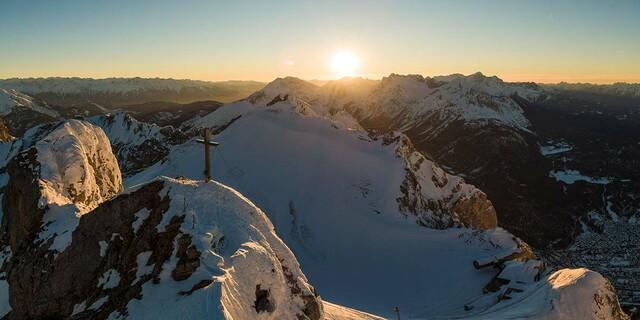Winterstimmung an der Westlichen Karwendelspitze, Foto: Wolfgang Ehn