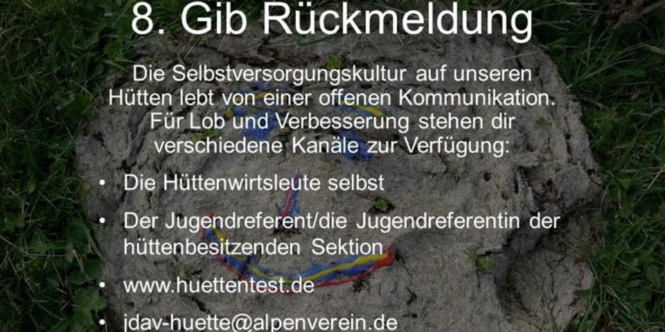 www.huettentest.de, jdav-huette@alpenverein.de