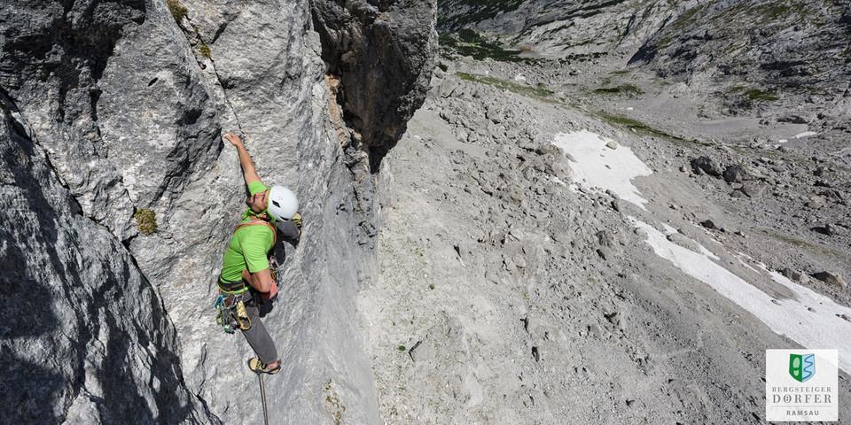 Klettern im Blaueiskar - Foto: DAV/Wolfgang Ehn