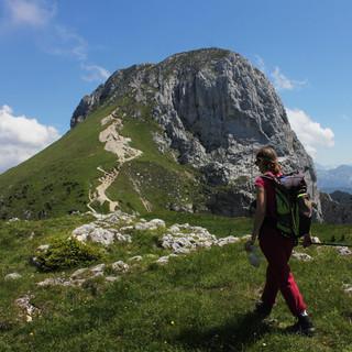 Blick von der Säulingwiese zum Gipfel. Foto: Pröttel