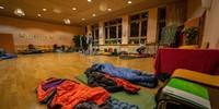 Übernachtung in der Schule, Foto: JDAV/Silvan Metz