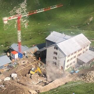 Baustelle auf der Kemptner Hütte, Foto: DAV-Sektion Allgäu-Kempten