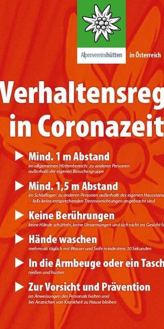 Verhaltensregeln Corona in Österreich