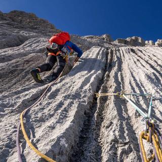 """""""Freier als Paul Preuss"""" führt steil hinauf auf den Großen Bratschenkopf. Foto: Ralph Gantzhorn"""