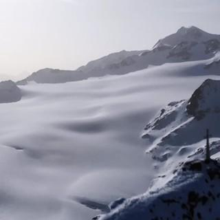 """Schneeparadies unterhalb der Wildspitze, Szene aus """"Bergauf Bergab"""""""