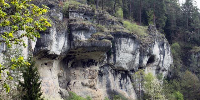 Riffkalke im Nördlichen Frankenjura - die Bärenschlucht. Foto: DAV/Reich