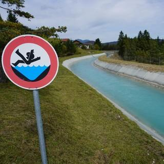 Die Ausleitung der Isar bei Krün. Das Wasser fließt in den Walchensee. Foto: N. Schnitzer