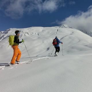 Skitour zum Schafjoch auf den noch unverbauten Feldringer Böden. Foto: Gerd Estermann