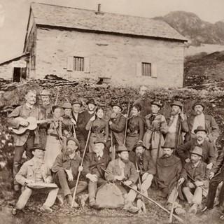 Einweihung der Karl von Edel Hütte, 1889. Archiv des DAV, München