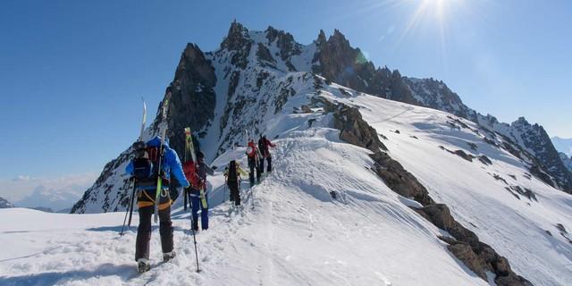 Von der Winterlücke über den Lochberg: Alpinistisch vielleicht die interessanteste Passage der Urner Haute Route. Foto: Folkert Lenz