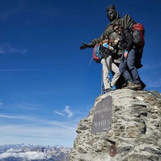 Gipfelstatue auf dem Rocciamelone, Foto: Stefan Neuhauser