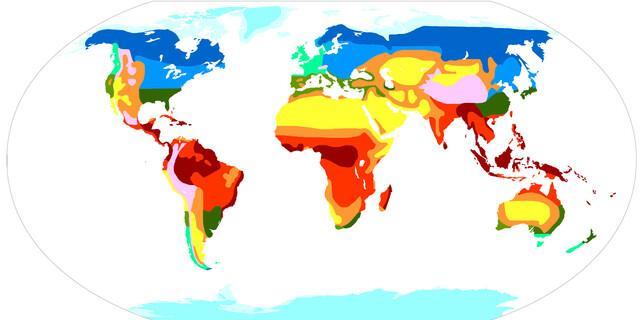 Klimazonen der Erde - Grafik: Marmota Maps