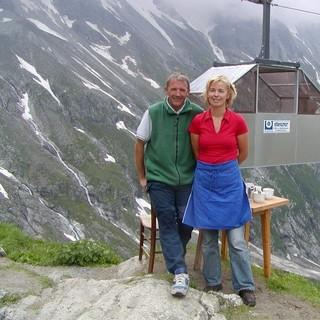 Hüttenwirtsleute Irmi und Herbert Schneeberger, Foto: DAV Sektion Greiz