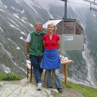 Die Hüttenwirtsleute Irmi und Herbert, Foto: DAV Sektion Greiz