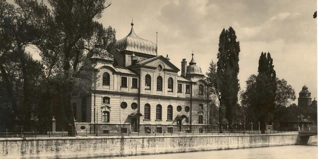 Alpines Museum von der Stadtseite aus 1930. Foto: Archiv des DAV, München