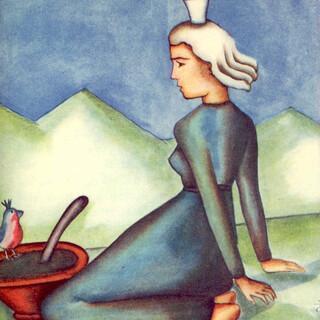 Martha Innerebner. Prinzessin. Illustration aus: Bruder Willram (Anton Mueller) Märchen der Berge. Innsbruck Leipzig 1938