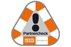 Partnercheck-Schild für Kletterwand