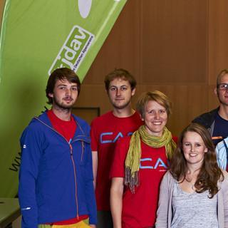 Bundesjugendleitung 2015-2017 - vlnr: Arne, Pipo, Lena, Sunnyi, Richard, Anni, Jonas. (c) Ben Spengler&nbsp&#x3B;