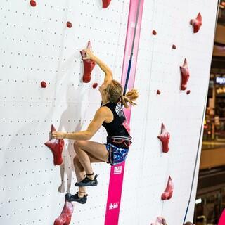 Nuria Brockfeld stellte an diesem Abend einen neuen Deutschen Rekord auf. Foto: DAV/René Oberkirch