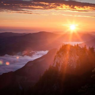 Nationalpark-Kalkalpen-Sonnenaufgang