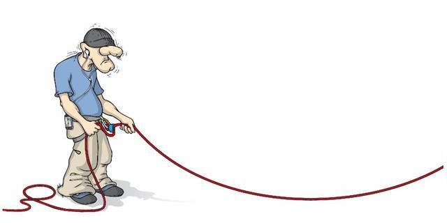 Schlappseil ist vor allem in Bodennähe sehr gefährlich! Illustration: Georg Sojer