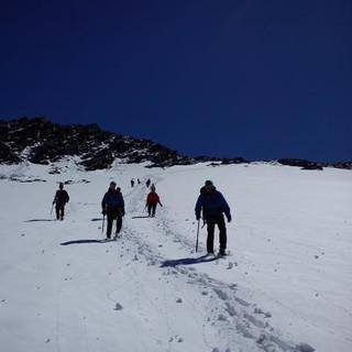 Unterwegs auf Schnee im Sommer. Foto: Margerethe Blanz