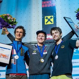 Die strahlenden Sieger im Olympic Combined (Foto: Eddie Fowke - IFSC)